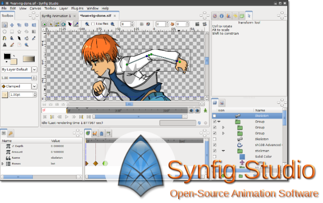 This week's Open Source application is Synfig Studio