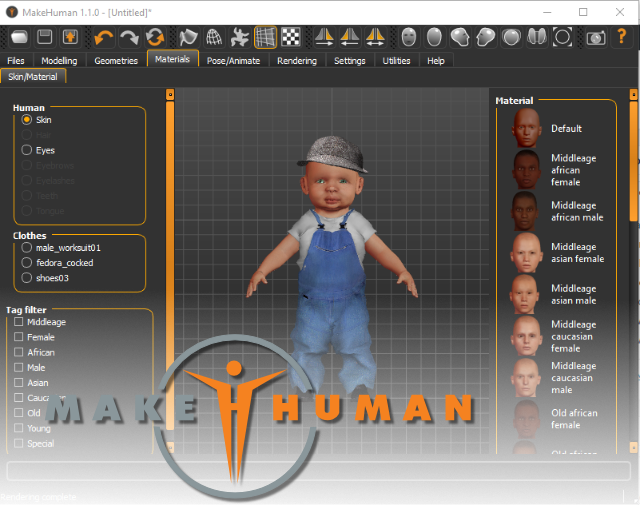 This week's open source application is MakeHuman