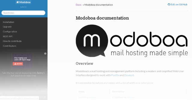 This week's open source application is Modoboa