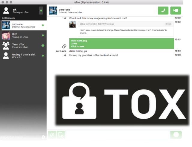 This week's open source application is Tox
