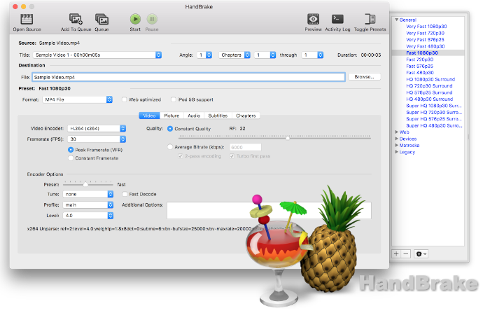 This week's open source application is HandBrake