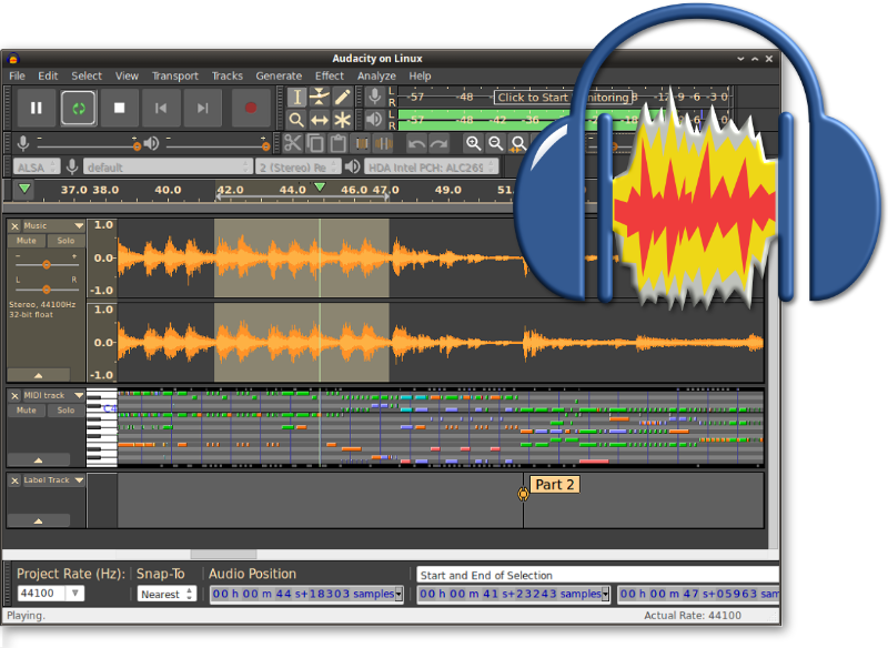This week's open source application is Audacity