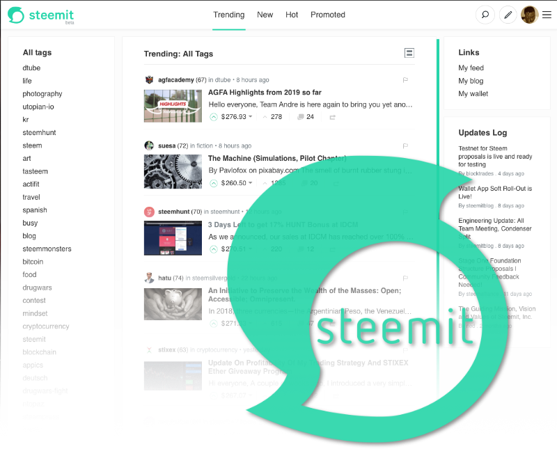 This week's open source application is Steemit